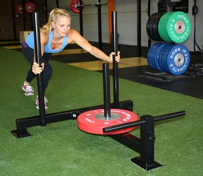 Workout with Hi/Low Push Sled